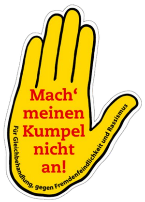 Gelbe Hand