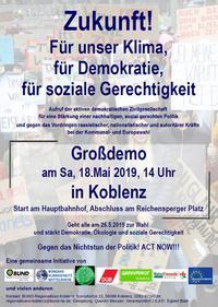 Zukunft! Für unser Klima, für Demokratie, für soziale Gerechtigkeit!