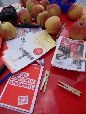 Info-Stand in Remagen