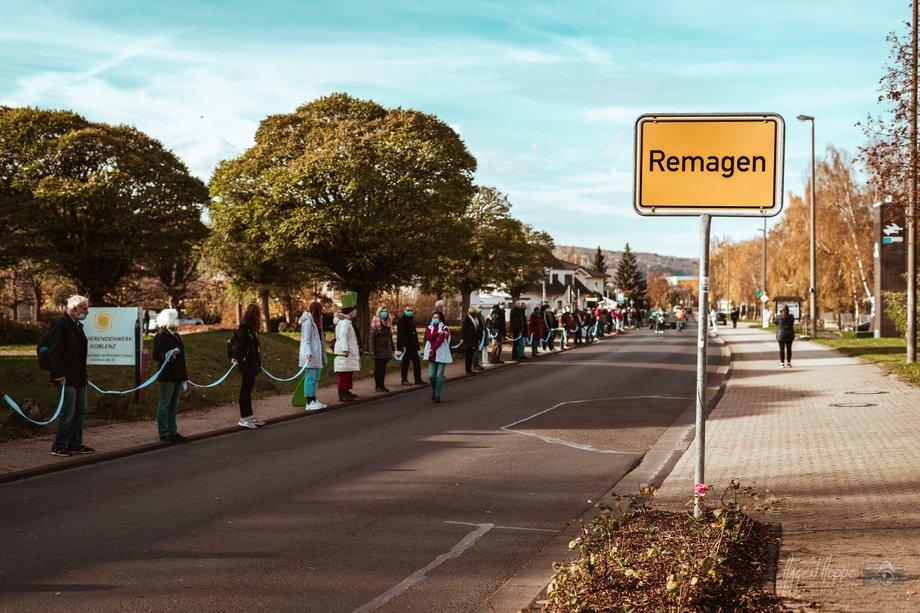 Menschenkette in Remagen