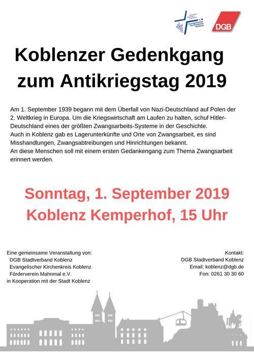 Antikriegstag Koblenz